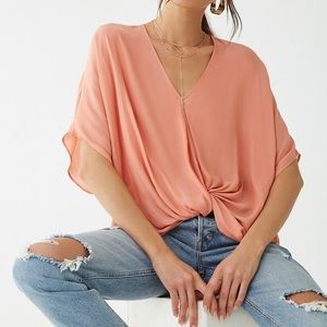 Forever 21 cropped beige top